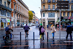Street scene in the rain in Toulouse, France<br /> <br /> (c) Andrew Wilson | Edinburgh Elite media