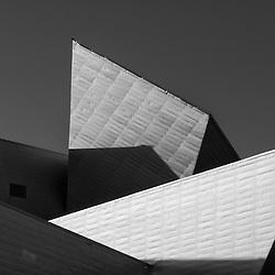 Architectural detail of the Denver Art Museum in Denver, Colorado.