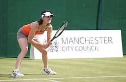 MANCHESTER, ENGLAND: Martina Hingis (SUI) on Day 3 of the Manchester Masters Tennis Tournament at the Northern Tennis Club. (Pic by David Tickle/Propaganda)