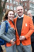 Officiele huldiging van de Olympische en Paralympische medaillewinnaars in de Grote Kerk of St. Jacobskerk, Den Haag.<br /> <br /> op de foto:  Bibian Mentel eb partner Edwin Spee