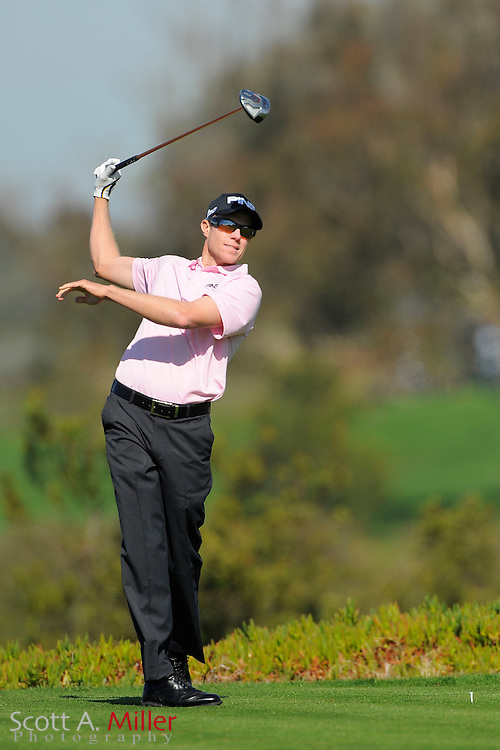 Nick O'Hearn tees off on the ninth hole during the second round of the Farmers Insurance Open on the North Course at Torrey Pines on Jan. 27, 2012 in La Jolla, California. ..©2012 Scott A. Miller