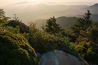 Sunrise from Myrtle Point on Mt LeConte in the Great Smoky Mountains<br /> (Great Smoky Mountains National Park, USA - August 2012)