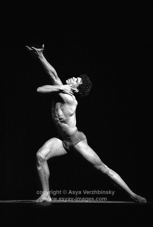 "Carlos Acosta in the Royal Ballet's production of George Balanchine's ""Prodigal Son"""