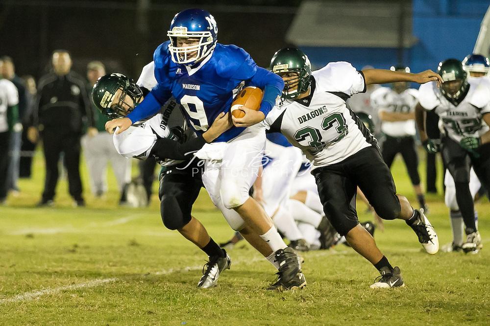 October/12/12:  MCHS Varsity Football vs William Monroe.  Madison wins 48-14 over the Dragons.