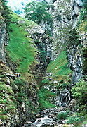 SPAIN, NORTH, ASTURIAS 'Picos de Europa' Rio Cares gorge