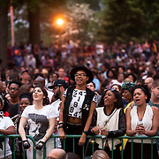 June 4, 2014 - New York, NY : <br /> Concertgoers cheer as they wait for Janelle Monáe to take the stage and kick off the 2014 Celebrate Brooklyn! concert series in Prospect Park on Wednesday night.<br /> CREDIT: Karsten Moran for The New York Times