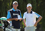 CAPE TOWN, SOUTH AFRICA, Monday 27 February 2011, Brandon Stone (right) with his father, Kevin, on the first tee box, during the Sanlam SA Amateur Championship held at the Mowbray Golf Club..Photo by Roger Sedres/ImageSA