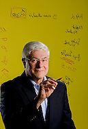 Dr. Roger G. Ibbotson, PhD., writes out a regression equation that he used to predict a 9% return on the stock market in 2009. Ibbotson, a professor at Yale University, is Chairman and CIO of Zebra Capital Management, LLC, a quantitative equity hedge fund manager.  He has written numerous books and articles. He was photographed October 30, 2008 in Milford, Connecticut. Mandatory Photo Credit: Robert Falcetti