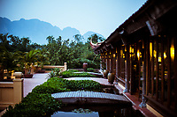 A view over the mountains of Ninh Binh from the Emeralda Resort in northern Vietnam.