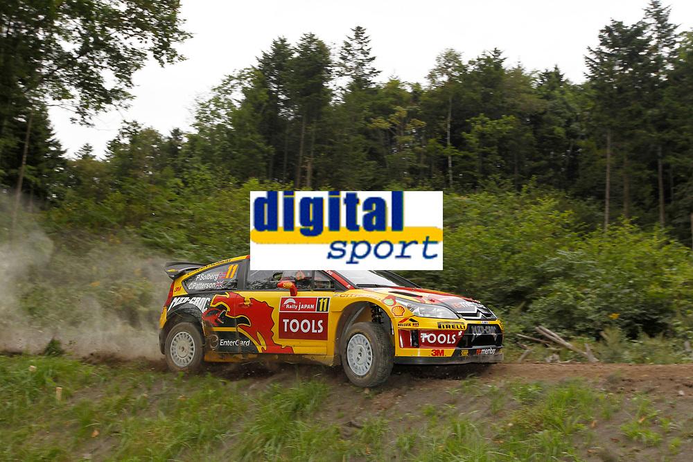 MOTORSPORT - WORLD RALLY CHAMPIONSHIP 2010 - RALLY JAPAN / RALLYE DU JAPON - SAPPORO (JAP) - 09 TO 12/09/2010 - PHOTO : FRANCOIS BAUDIN / DPPI - <br /> Petter SOLBERG (NOR) / Chris PATTERSON (GBR) - CITROEN C4 WRC - PETTER SOLBERG WORLD RALLY TEAM - ACTION