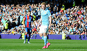 Kevin De Bruyne comes on to make his debut during the Barclays Premier League match between Crystal Palace and Manchester City at Selhurst Park, London, England on 12 September 2015. Photo by Michael Hulf.