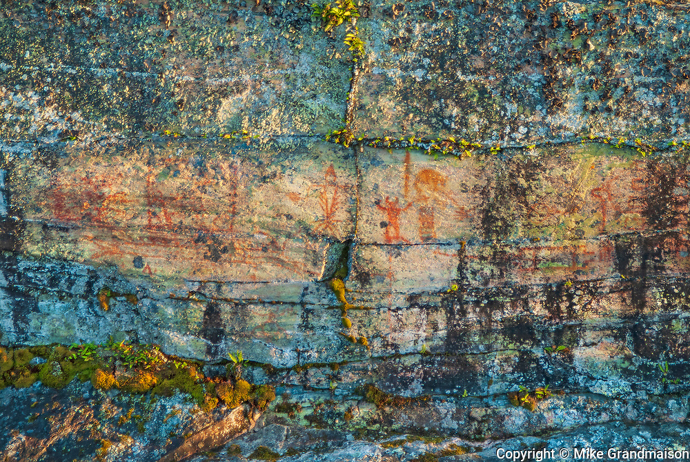 Pictographs on precambrian rock on Lake of the Woods<br />Morson<br />Ontario<br />Canada