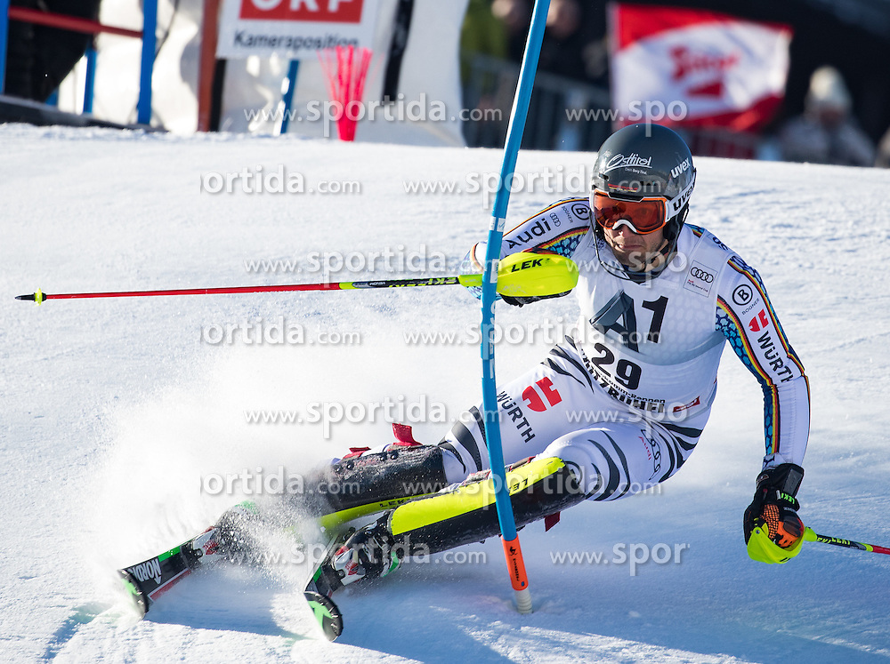 22.01.2017, Hahnenkamm, Kitzbühel, AUT, FIS Weltcup Ski Alpin, Kitzbuehel, Slalom, Herren, 1. Lauf, im Bild Dominik Stehle (GER) // Dominik Stehle of Germany in action during his 1st run of men's Slalom of FIS ski alpine world cup at the Hahnenkamm in Kitzbühel, Austria on 2017/01/22. EXPA Pictures © 2017, PhotoCredit: EXPA/ Johann Groder