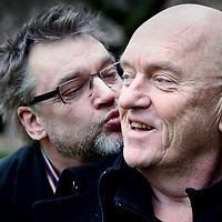 Nederland, Utrecht , 17 maart 2012..Henk Westbroek en Broos Schnetz van voormalig Leefbaar Utrecht.Foto:Jean-Pierre Jans
