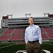 SALT LAKE CITY, UT - JUNE 13: Dr. Chris HIll Athletic Director and Special Assistant to the President of the University of Utah poses for a portrait at Rice-Eccles Stadium in Salt Lake City, Utah. June 13, 2011. (Photo by August Miller).