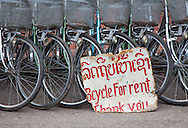 Bycyles for rent in Luang Prabang, Laos.
