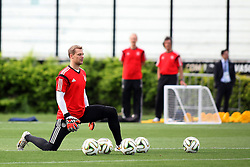 12.07.2014, San Januario Stadium, Rio de Janeiro, BRA, FIFA WM, Deutschland vs Argentinien, Finale, Abschlusstraining, im Bild Ein konzentrierter Manuel Neuer (GER) // German football goalkeeper Manuel Neuer during a practice session of team Germany prior to Final match between Germany and Argentina of the FIFA Worldcup Brazil 2014 at the San Januario Stadium in Rio de Janeiro, Brazil on 2014/07/12. EXPA Pictures © 2014, PhotoCredit: EXPA/ Eibner-Pressefoto/ Cezaro<br /> <br /> *****ATTENTION - OUT of GER*****