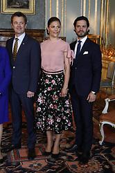 May 30, 2017 - Stockholm, Sweden - Crown prince Frederik, crown princess Victoria, prince Carl Philip..Official visit from Denmark, Lunch at the Royal Palace, Stockholm, 2017-05-30..(c) Patrik C Österberg / IBL....Officiellt besök frÃ¥n Kronprinsparet av Danmark, lunch pÃ¥ Kungliga slottet, Stockholm, 2017-05-30 (Credit Image: © Patrik ÖSterberg/IBL via ZUMA Press)