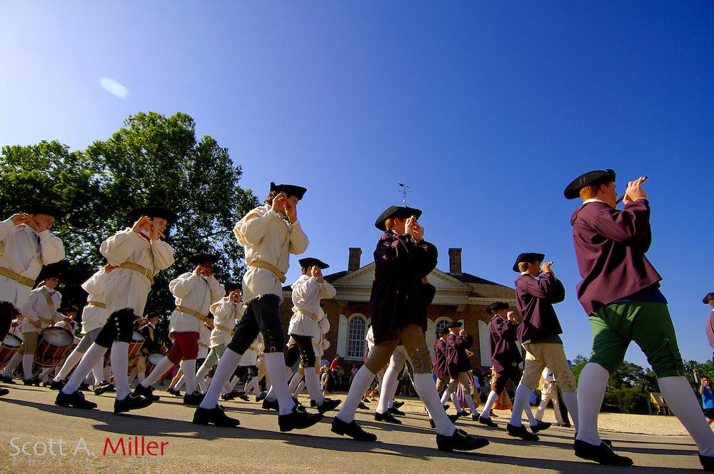 Williamsburg, Va. --  Fife and drum parade in Colonial Williamsburg..Scott A. Miller/Golfweek
