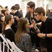 "Milano, February 24th, 2015. Make up for the fashion show ""Next Generation"", Teatro Vetra."