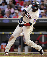 MINNEAPOLIS - SEPTEMBER 04:  Orlando Hudson #1 of the Minnesota Twins bats against the Texas Rangers on September 4, 2010 at Target Field in Minneapolis, Minnesota.  The Twins defeated the Rangers 12-4.  (Photo by Ron Vesely)
