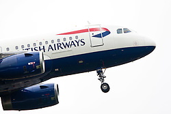 A British Airways plane on approach to Edinburgh airport..©Pic : Michael Schofield.
