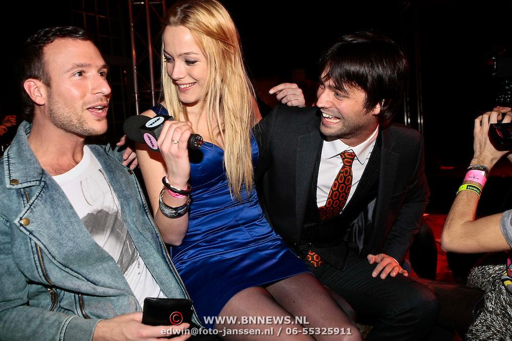 NLD/Amsterdam/20100210 - Uitreiking Jackie's Best Dressed Award 2010, dj Don Diablo en Jan Kooiman worden geinterviewd door TMF
