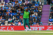 Andile Phehlukwayo of South Africa has an unsuccessful appeal for an lbw during the ICC Cricket World Cup 2019 match between South Africa and India at the Hampshire Bowl, Southampton, United Kingdom on 5 June 2019.