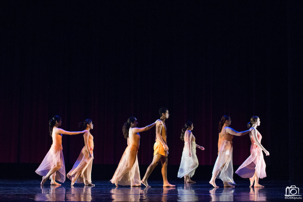 Santa Clara University's Department of Theatre & Dance performs the Choreographers' Gallery during a dress rehearsal at Santa Clara University's Louis B. Mayer Theatre in Santa Clara, California, on December 2, 2014. (Stan Olszewski/SOSKIphoto)