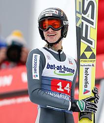 04.01.2014, Bergisel Schanze, Innsbruck, AUT, FIS Ski Sprung Weltcup, 62. Vierschanzentournee, Bewerb, im Bild Gregor Deschwanden (SUI) // Gregor Deschwanden of Switzerland during Competition of 62nd Four Hills Tournament of FIS Ski Jumping World Cup at the Bergisel Schanze, Innsbruck, Austria on 2014/01/04. EXPA Pictures © 2014, PhotoCredit: EXPA/ Peter Rinderer