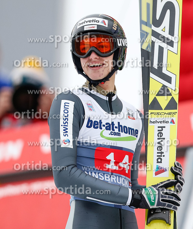 04.01.2014, Bergisel Schanze, Innsbruck, AUT, FIS Ski Sprung Weltcup, 62. Vierschanzentournee, Bewerb, im Bild Gregor Deschwanden (SUI) // Gregor Deschwanden of Switzerland during Competition of 62nd Four Hills Tournament of FIS Ski Jumping World Cup at the Bergisel Schanze, Innsbruck, Austria on 2014/01/04. EXPA Pictures © 2014, PhotoCredit: EXPA/ Peter Rinderer