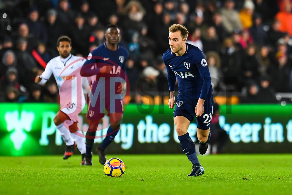Christian Eriksen of Tottenham Hotspur in action - Mandatory by-line: Craig Thomas/JMP - 02/01/2018 - FOOTBALL - Liberty Stadium - Swansea, England - Swansea City v Tottenham Hotspur - Premier League