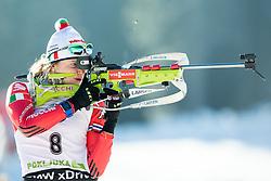 GONTIER Nicole (ITA) at zeroing prior to the Women 10 km Pursuit at day 3 of IBU Biathlon World Cup 2014/2015 Pokljuka, on December 20, 2014 in Rudno polje, Pokljuka, Slovenia. Photo by Vid Ponikvar / Sportida