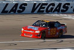 Mar 9, 2012; Las Vegas, NV, USA; Nationwide Series driver Morgan Shepherd (89) during practice for the Sam's Town 300 at Las Vegas Motor Speedway. Mandatory Credit: Jason O. Watson-US PRESSWIRE