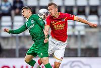 ALKMAAR, 19-05-2017, AZ - FC Groningen,  AFAS Stadion, FC Groningen speler Bryan Linssen, AZ speler Stijn Wuytens