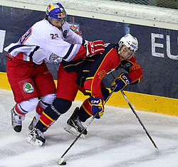 18.12.2011, Albert Schultz Halle, Wien, AUT, European Trophy, Finale, Jokerit vs EC Red Bull Salzburg, im Bild Markus Schlacher, (EC Red Bull Salzburg, #23) und Ben Eaves, (Jokerit, #42) , EXPA Pictures © 2011, PhotoCredit: EXPA/ T. Haumer