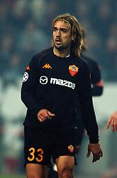 10-12-2002 VOETBAL: CHAMPIONS LEAGUE AJAX - AS ROMA: AMSTERDAM<br /> Batistuta<br /> ©2002-Ronald Hoogendoorn