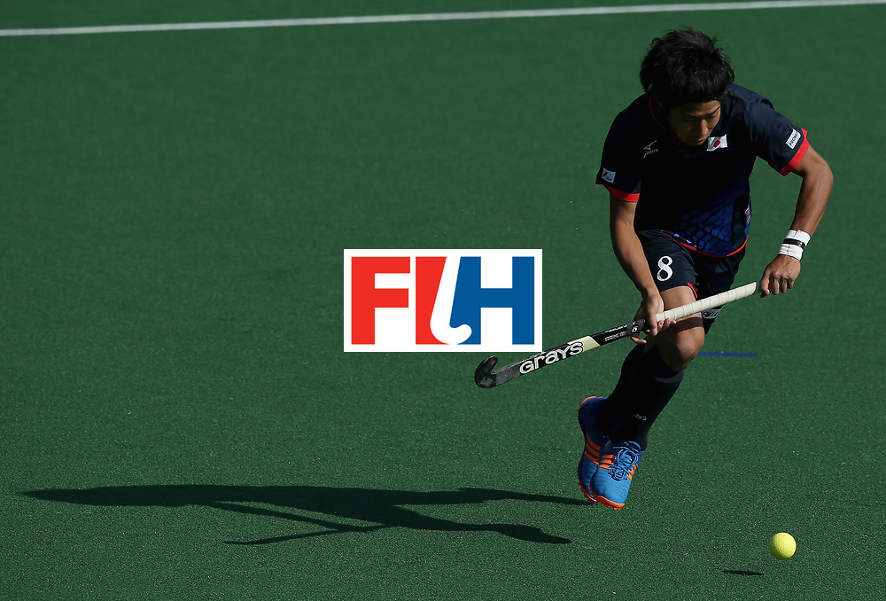 JOHANNESBURG, SOUTH AFRICA - JULY 13: Suguru Hoshi of Japan in action  during day 3 of the FIH Hockey World League Semi Finals Pool A match between Japan and France at Wits University on July 13, 2017 in Johannesburg, South Africa. (Photo by Jan Kruger/Getty Images for FIH)