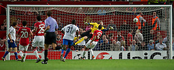 27.09.2011, Old Trafford, London, ENG, UEFA CL, Gruppe C, Manchester United (ENG) vs FC Basel (SUI), im Bild FC Basel 1893's Alexander Frei scores the equalising 2-2 goal against Manchester United's goalkeeper David de Gea // during the UEFA Champions League game, group C, Manchester United (ENG) vs FC Basel (SUI) at Old Trafford stadium in London, United Kingdom on 2011/09/27. EXPA Pictures © 2011, PhotoCredit: EXPA/ Propaganda Photo/ David Rawcliff +++++ ATTENTION - OUT OF ENGLAND/GBR+++++