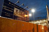 14 JUN 2010, BERLIN/GERMANY:<br /> Baustelle fuer den Neubau des Bundesnachrichtendienstes, BND, Chausseestrasse<br /> IMAGE: 20100614-02-002