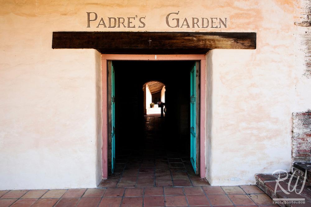 Entrance to Padre's Garden at Mission San Antonio de Padua, Monterey County, California