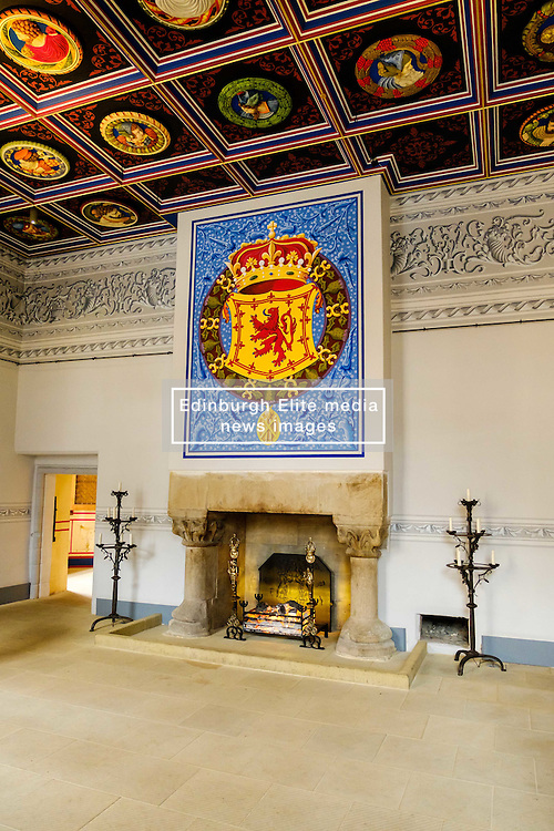 The fireplace in the King's Outer Hall, Stirling Castle, Stirling, Scotland<br /> <br /> (c) Andrew Wilson | Edinburgh Elite media