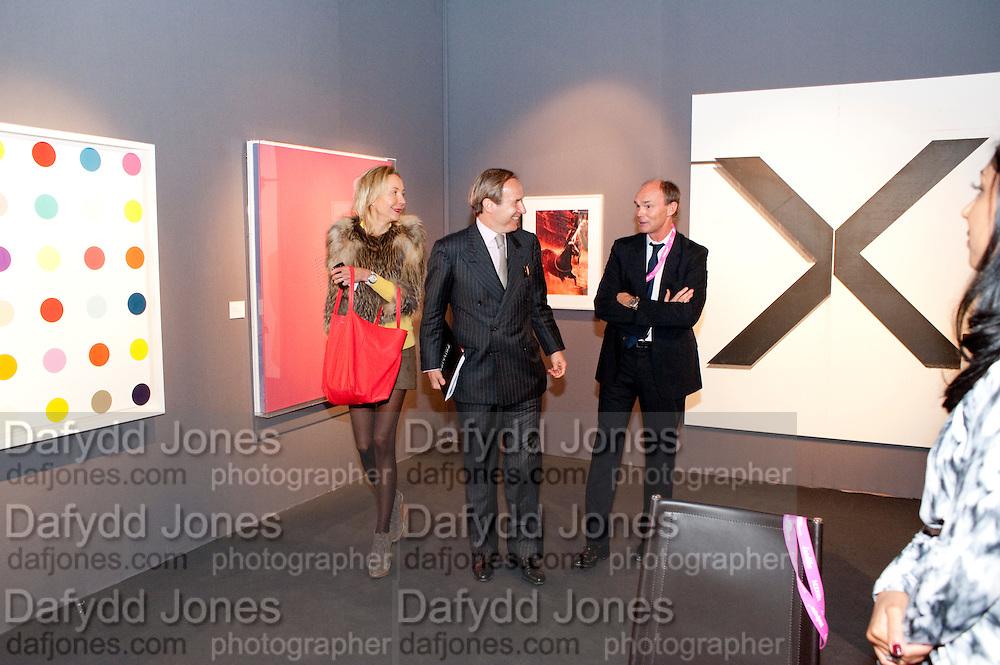 SIMON DE PURY; MICHAELA DE PURY, Pavilion of art and design.- PAD London  Berkeley Square. London. 10 October 2011. <br /> <br />  , -DO NOT ARCHIVE-© Copyright Photograph by Dafydd Jones. 248 Clapham Rd. London SW9 0PZ. Tel 0207 820 0771. www.dafjones.com.
