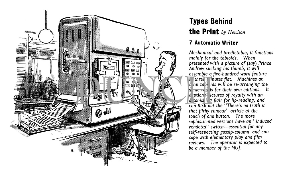 Types Behind the Print. 7. Automatic Writer