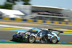 June 17, 2017 - Le Mans, Sarthe, France - Dempsey-Proton Racing Porsche 911 RSR rider MATTEO CAIROLI (ITA) in action during the race of the 24 hours of Le Mans on the Le Mans Circuit - France (Credit Image: © Pierre Stevenin via ZUMA Wire)