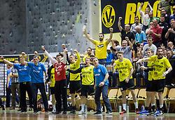 Players of RK Gorenje react during handball match between RK Gorenje and RK Celje Pivovarna Lasko in 5th Round of 1st NLB Leasing Slovenian Champions League 2015/16, on May 11, 2016, in Red arena, Velenje, Slovenia. Photo by Vid Ponikvar / Sportida