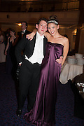 MATTHEW TRAVERS; CELINA D'ABO, The Royal Caledonian Ball 2013. The Great Room, Grosvenor House. Park lane. London. 3 May 2013.