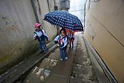 Sapa. Kids with umbrella.