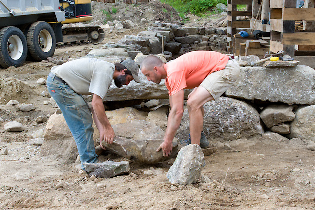 Ian Blackman Barn Restoration and Preservation Specialist, and Master Stone Mason, Kevin Fife.  Project:  Rockledge Farm, NH. All Content is Copyright of Kathie Fife Photography. Downloading, copying and using images without permission is a violation of Copyright.