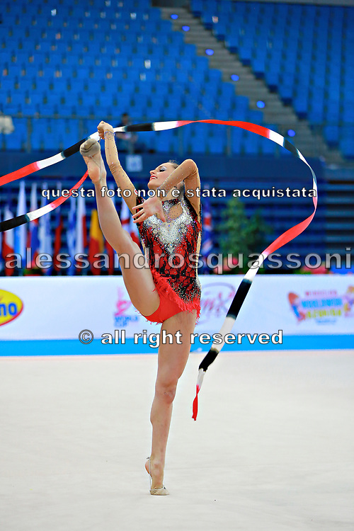 Veronica Bertolini during qualifying at ribbon in Pesaro World Cup 11 April, 2015.<br />